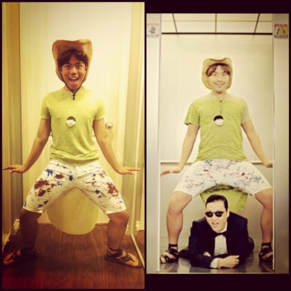 Gangnam Style Elevator costume